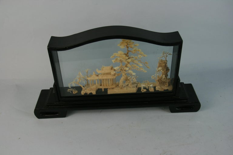 Oversized Antique Chinese Cork Diorama For Sale 3