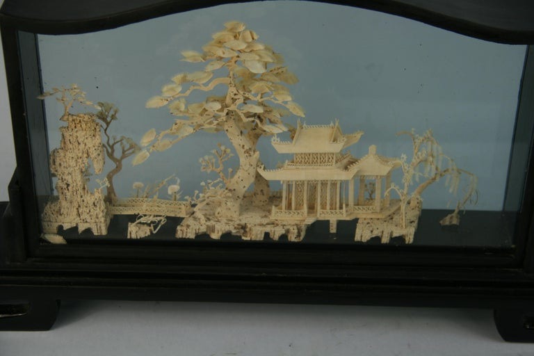 Oversized Antique Chinese Cork Diorama For Sale 4