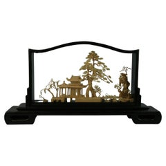 Oversized Antique Chinese Cork Diorama