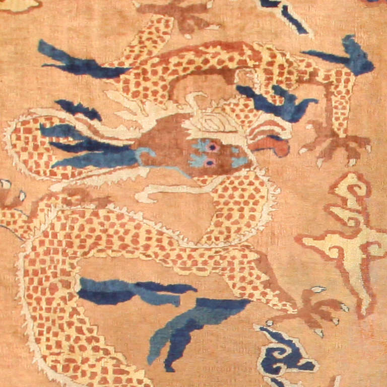 Art Deco Oversized Antique Dragon Design Chinese Rug. Size: 15 ft 4 in x 22 ft For Sale
