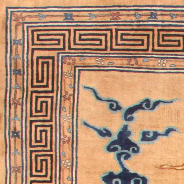 Hand-Knotted Oversized Antique Dragon Design Chinese Rug. Size: 15 ft 4 in x 22 ft For Sale