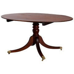 Oversized Antique English Regency Mahogany Tilt-Top Table, circa 1830