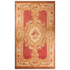 Oversized Antique French Aubusson Rug. Size: 16 ft x 26 ft 4 in