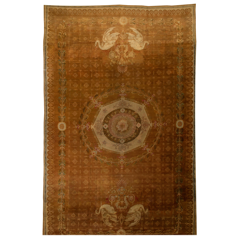 Oversized Antique French Directoire Savonnerie Carpet