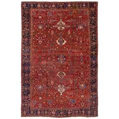 Oversized Antique Heriz Serapi Carpet, Excellent Condition