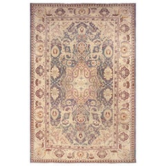 Oversized Antique Indian Agra Rug. Size: 14 ft x 20 ft 10 in (4.27 m x 6.35 m)