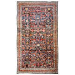 Oversized Antique Persian Bidjar Rug