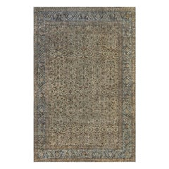 Oversized Antique Persian Kirman Rug 'Size Adjusted'