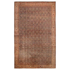 Oversized Antique Persian Mahal Sultanabad Rug. Size: 16 ft x 24 ft 9 in