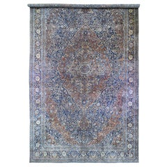 Oversized Antique Persian Motashem Kashan, Rare Mansion Size, Good Condition Rug