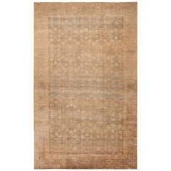 Oversized Antique Persian Tabriz Vase Design Rug