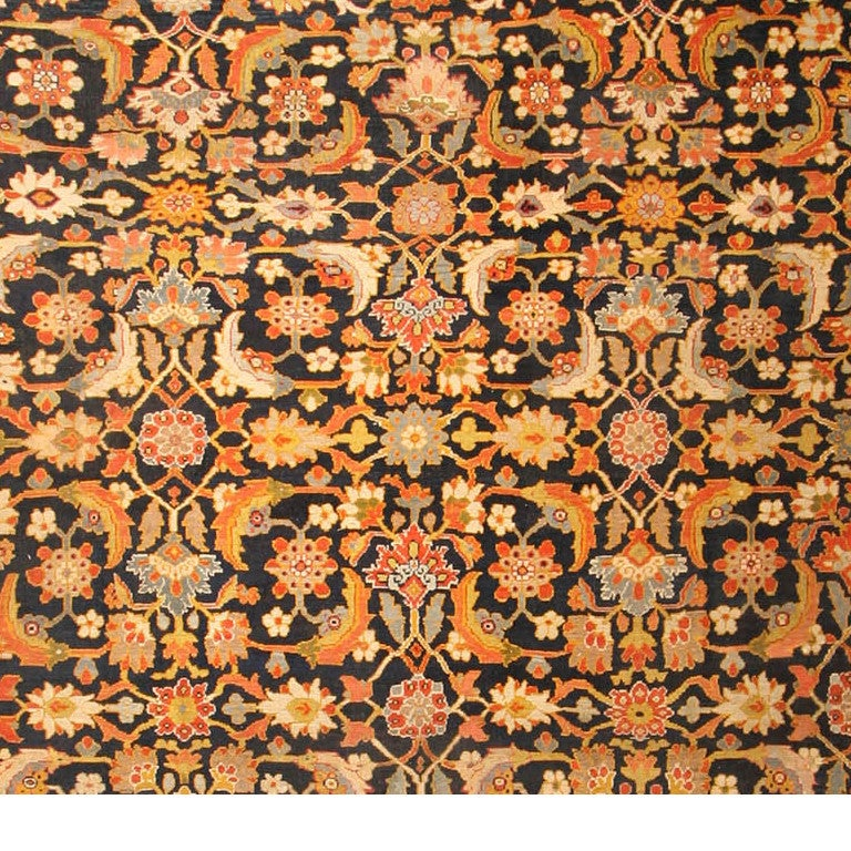 Hand-Knotted Oversized Antique Persian Ziegler Sultanabad Rug. Size: 17 ft 8 in x 22 ft 3 in For Sale