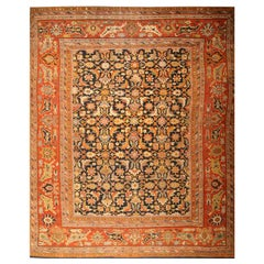 Oversized Antique Persian Ziegler Sultanabad Rug. Size: 17 ft 8 in x 22 ft 3 in