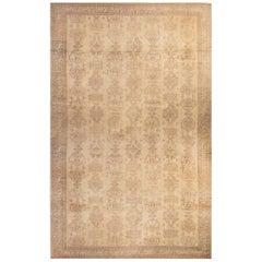Oversized Antique Turkish Oushak Carpet