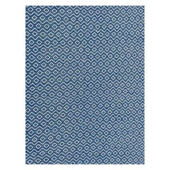 Oversized Blue and White Flat-Weave Indian Kilim by Gordian Rugs