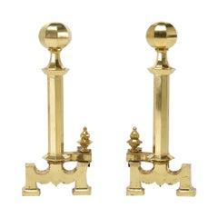 Oversized Brass Andirons