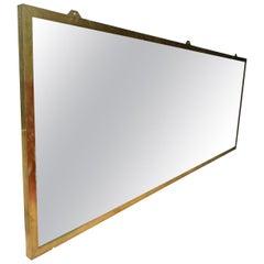 Oversized Brass Framed Mirror