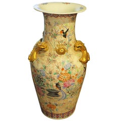 Oversized Cantonese Porcelain Urn Vase, China, Late 19th Century