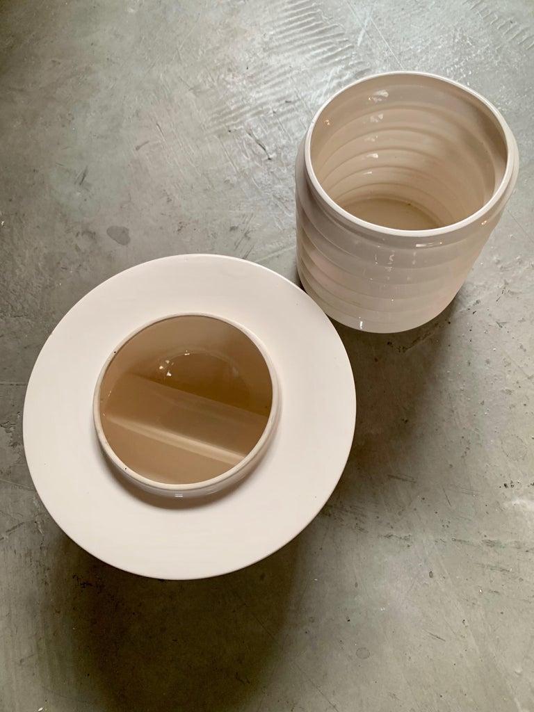 Late 20th Century Oversized Ceramic Screw Box For Sale