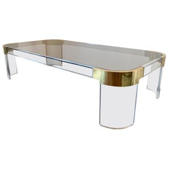 "Oversized Charles Hollis Jones ""Waterfall Line"" Coffee Table, 1970's."