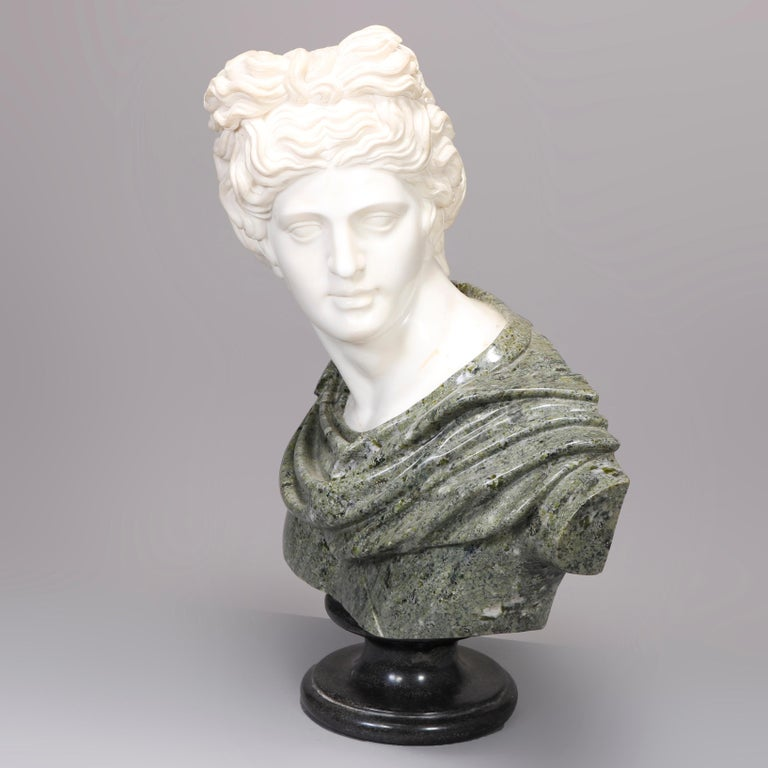 Oversized Classical Greek Marble Sculpture of David after Michelangelo For Sale 3