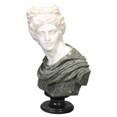 Oversized Classical Greek Marble Sculpture of David after Michelangelo