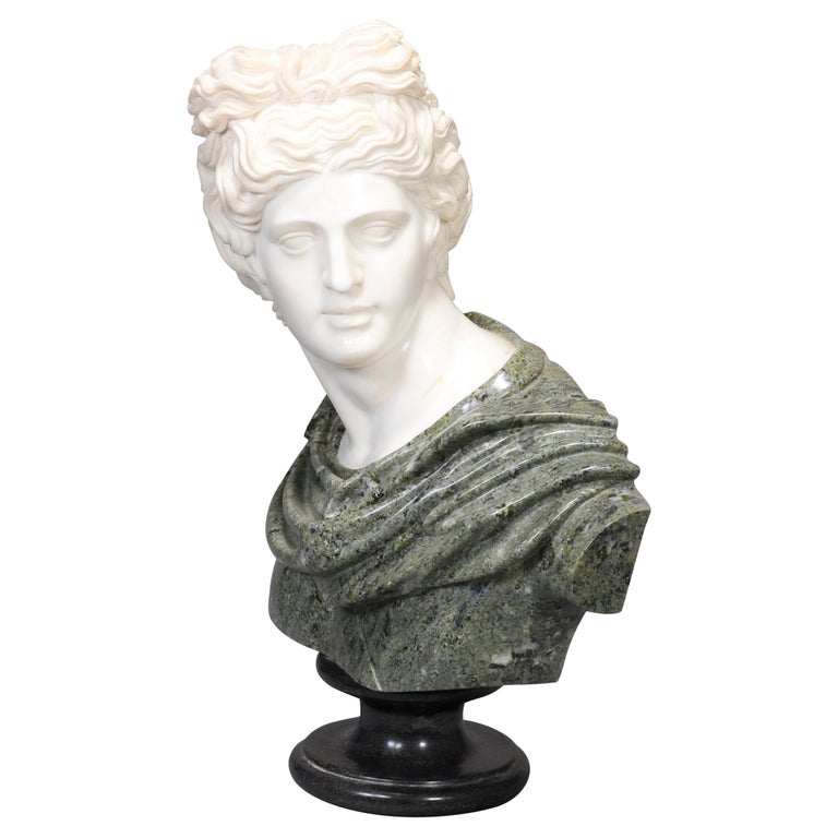 Oversized Classical Greek Marble Sculpture of David after Michelangelo For Sale