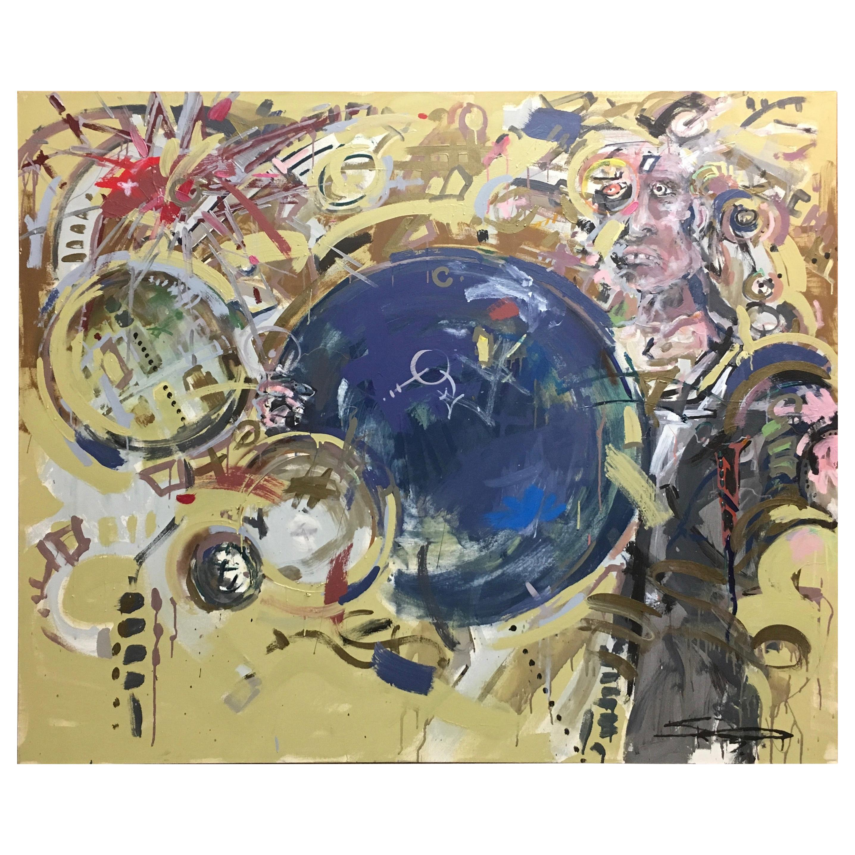 Oversized Contemporary Abstract Painting on Canvas