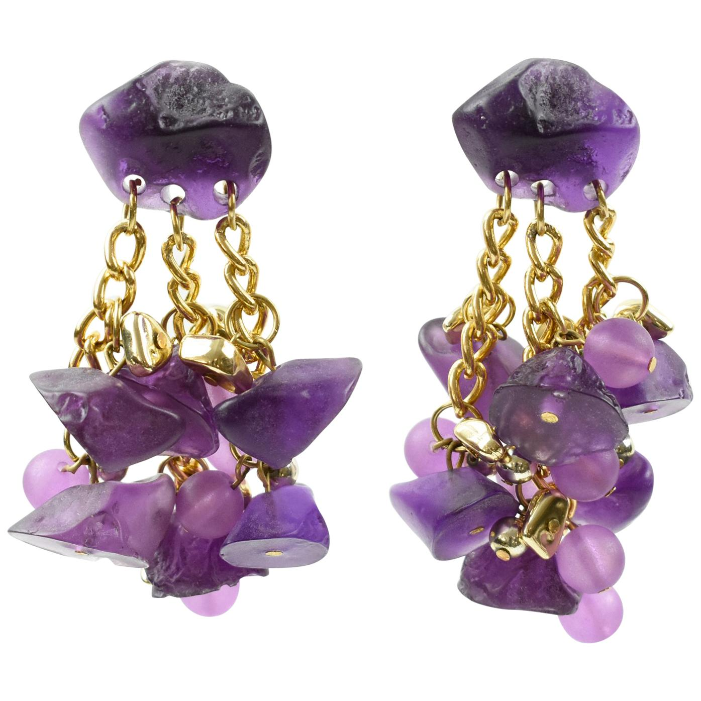 5965c245d23ef1 Fashion Chandelier Earrings - 218 For Sale at 1stdibs