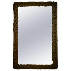 Oversized Double Framed Wicker Mirror