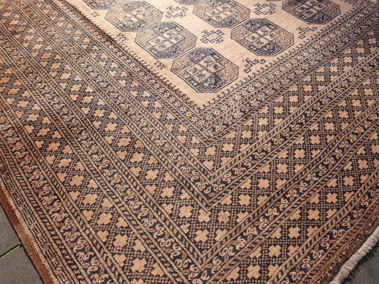 Hand-Knotted Oversized Ersari Tribal Turkoman Rug For Sale