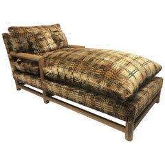 Oversized Faux Ostrich and Upholstered Daybed