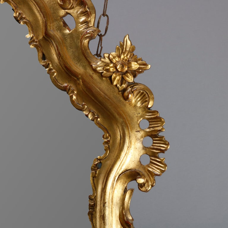 Oversized French Rococo Style Giltwood over Mantel Mirror, 20th Century For Sale 1