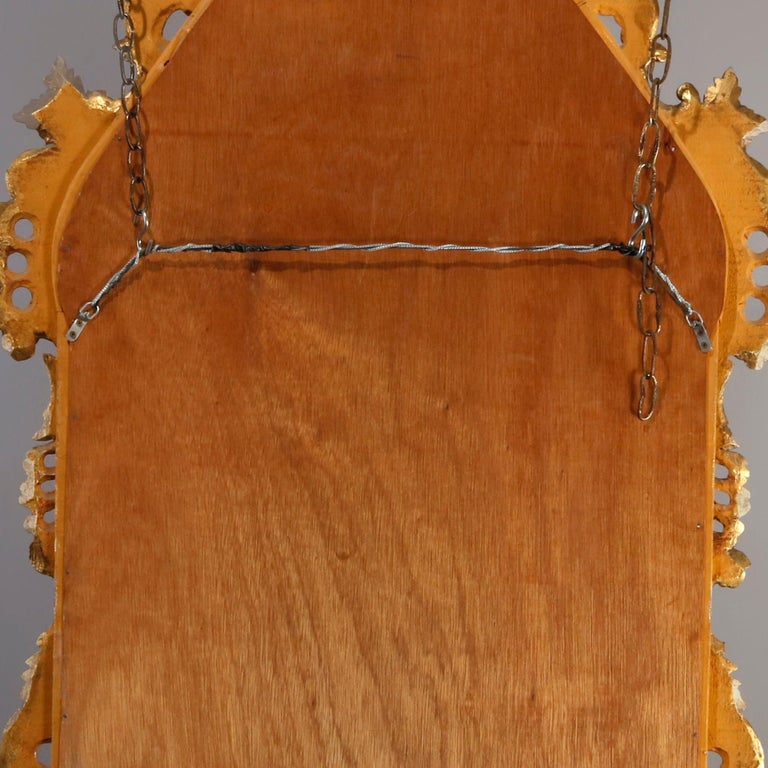 Oversized French Rococo Style Giltwood over Mantel Mirror, 20th Century For Sale 5