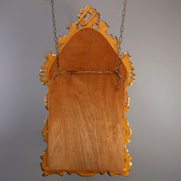 Oversized French Rococo Style Giltwood over Mantel Mirror, 20th Century For Sale 6