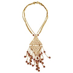 Oversized Goldette Glass Necklace