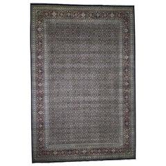 Oversized Herati 300 KPSI Wool and Silk Hand Knotted Oriental Rug