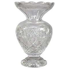 Oversized Irish Waterford Cut Crystal Flower Vase, 20th Century