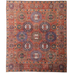 Oversized Khan Carpet from Afghanistan Vegetable Dyed Palace Size Rug 25 x 22 ft