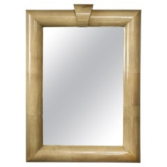Oversized Lacquered Parchment Mirror