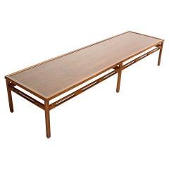 Oversized Long Rectangular Walnut Coffee Display Platform Center Table