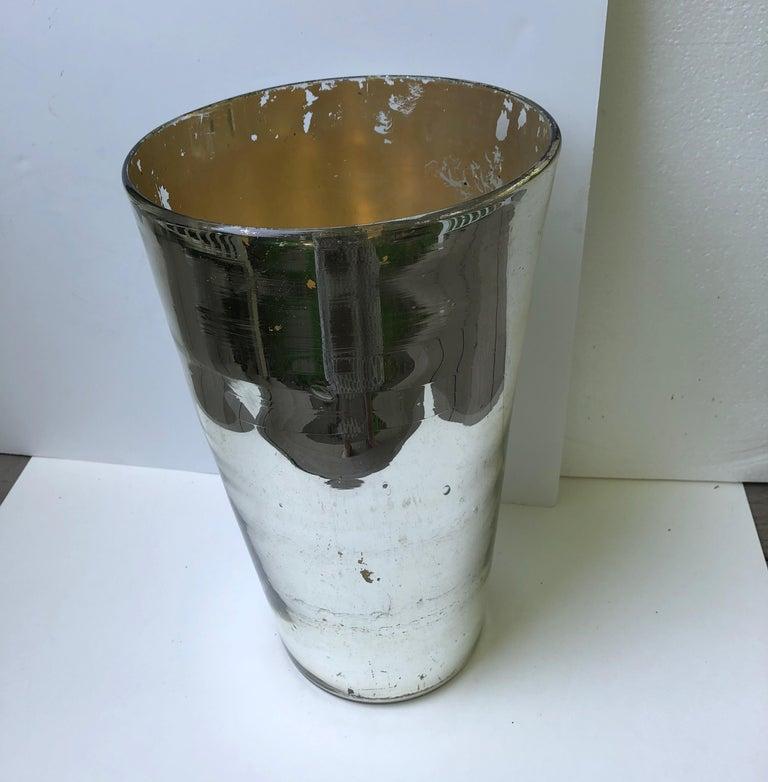 Oversized Mercury Glass Vase