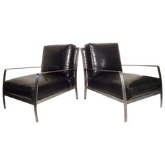 Oversized Metal Deco Style Chairs