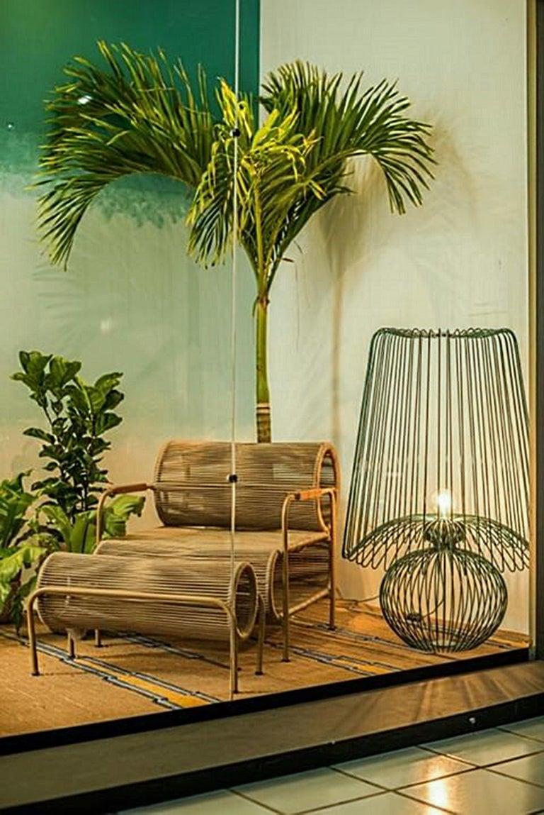 Modern Oversized Metal Floor Lamp Koy by Larissa Batista For Sale