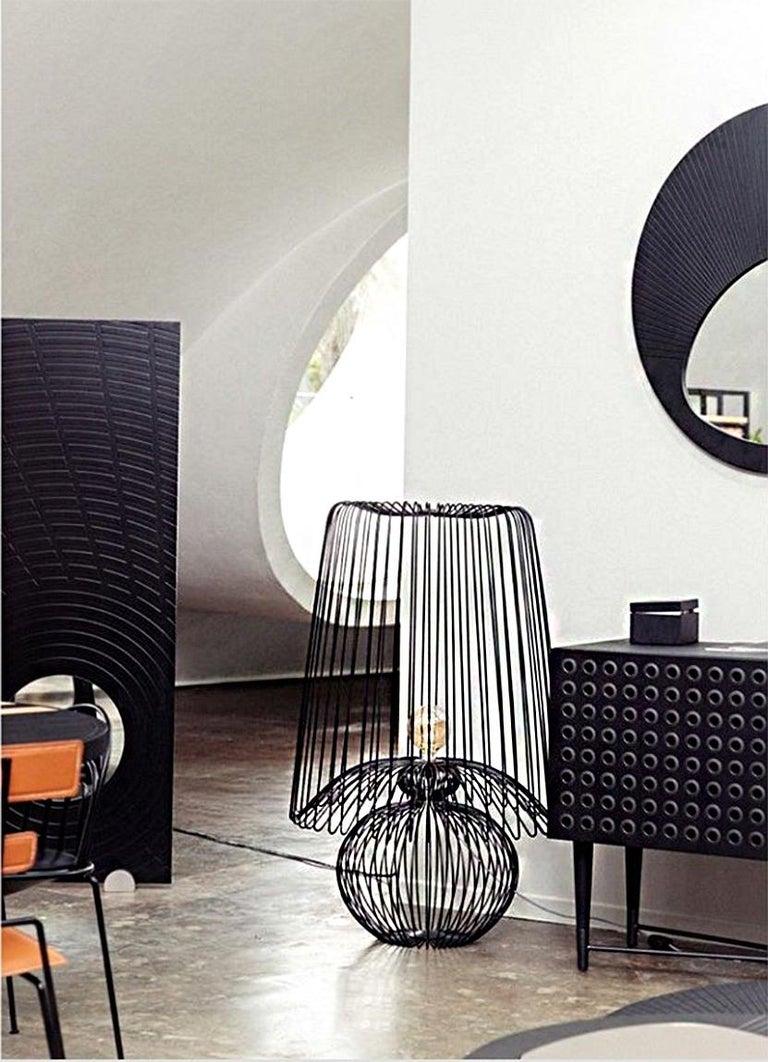 Brazilian Oversized Metal Floor Lamp Koy by Larissa Batista For Sale