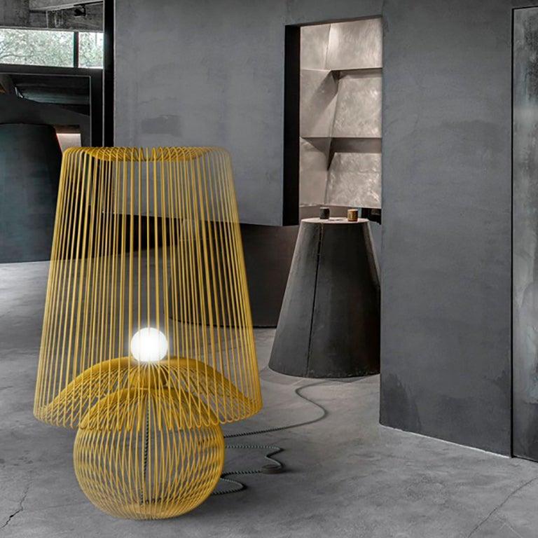 Contemporary Oversized Metal Floor Lamp Koy by Larissa Batista For Sale
