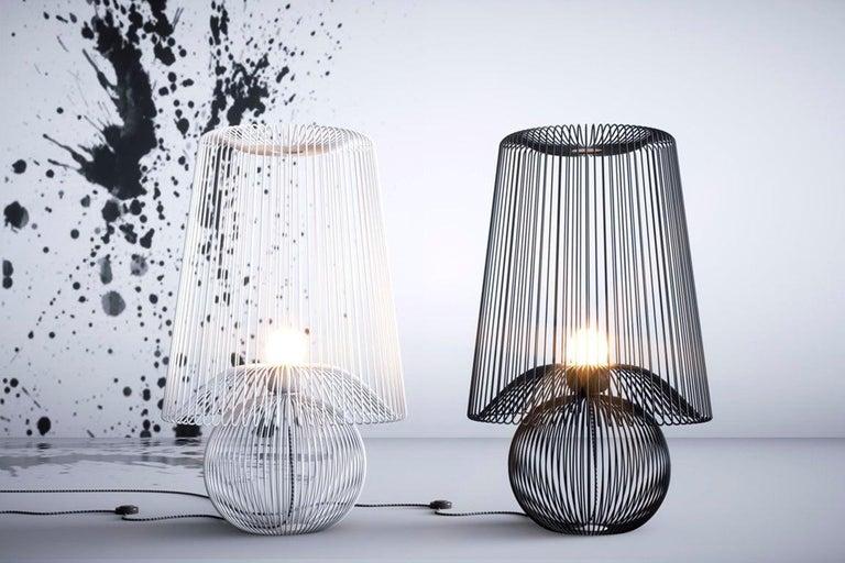 Oversized Metal Floor Lamp Koy by Larissa Batista For Sale 1