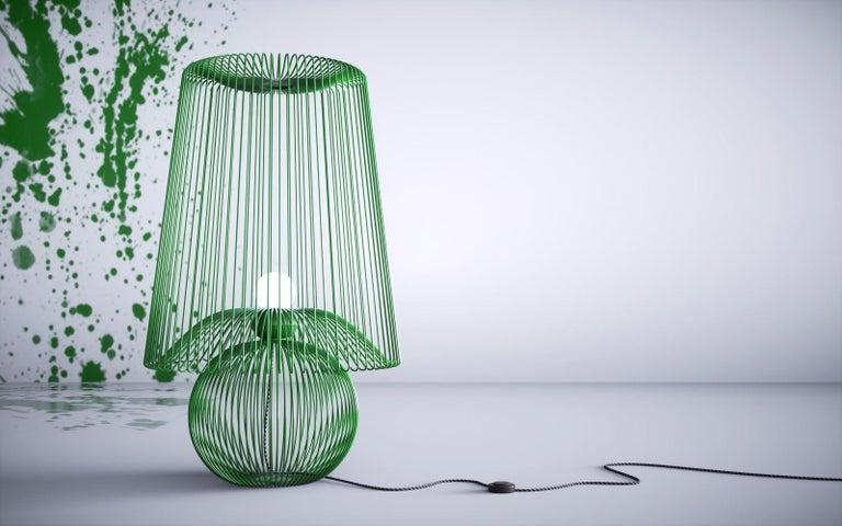 Oversized Metal Floor Lamp Koy by Larissa Batista For Sale 2