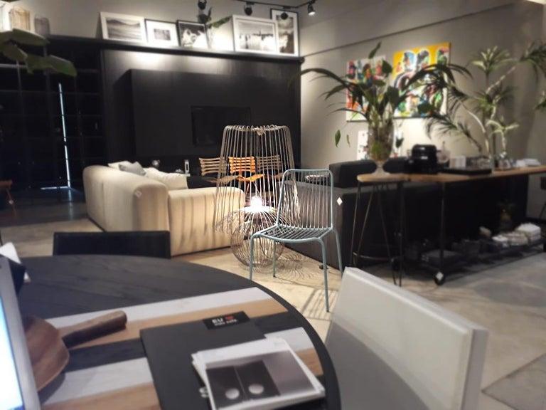 Modern Oversized Metal Floor Lamp Koy in Rose Gold For Sale