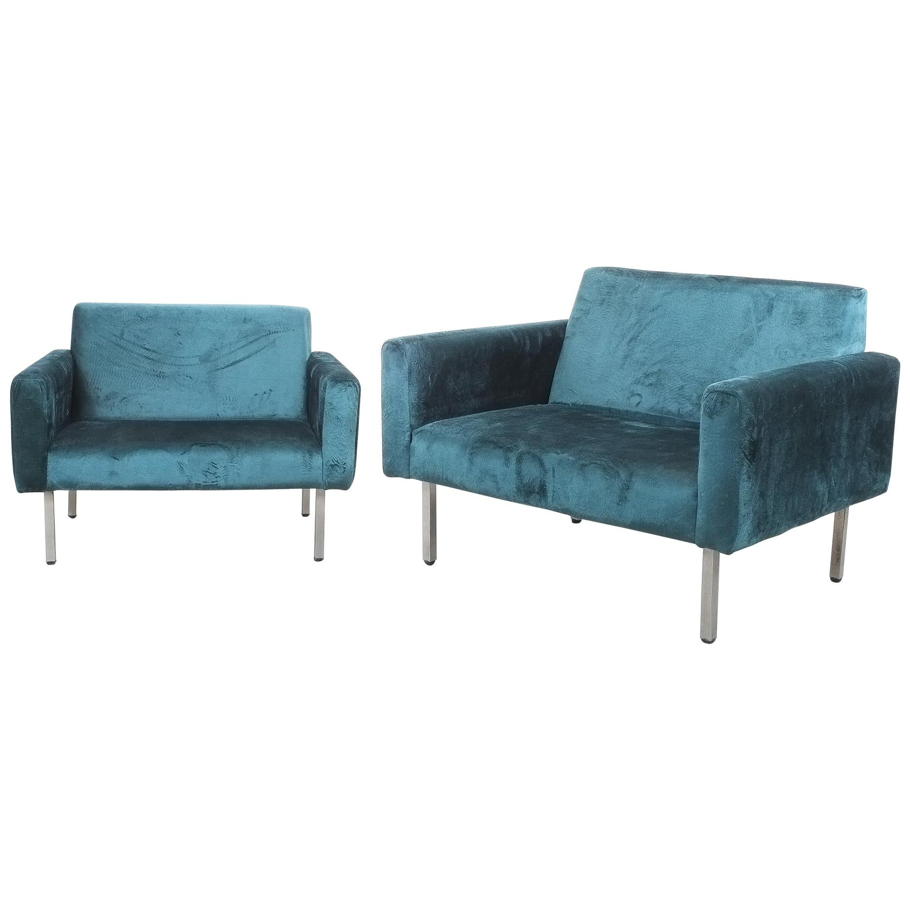 Oversized Pair George Nelson Chairs for Herman Miller, circa 1965